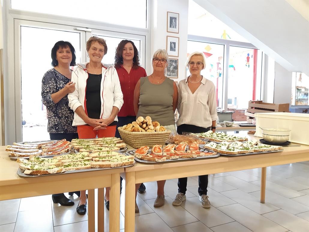 Annemarie Erhart, Regina Schöberl, Bettina Bernhart, Poldi Luegmayr, Christine Steinkellner, Ursula Steinkellner (nicht am Foto)